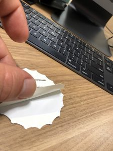 crack and peel sticker